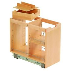 FindIT Birch Kitchen Storage Organization Base Cabinet Pullout With Slide