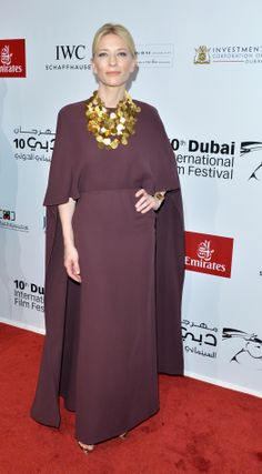 Cate Blanchett in a Valentino gown from the Spring/Summer 2014 collection at the Opening Night Gala of the 10th Annual Dubai International Film Festival held at the Madinat Jumeriah Complex on December 6th 2013 in Dubai
