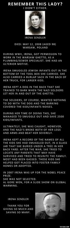 A true hero - Irene Sendler