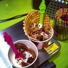 his and hers froyo <3