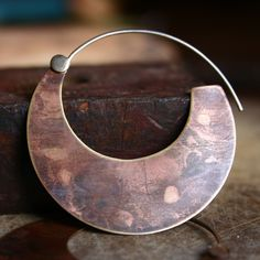 ON SALE 15 OFF Large Bronze Tribal Hoops with by indiaylaluna. $42.50, via Etsy.