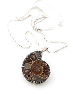 Desde las profundidades marinas... ¡Al edén! NEW Post www.mygoldfeeling.com  Colgante de plata con fósil marino