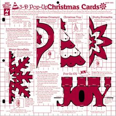 3D Pop-Up Christmas Cards Template