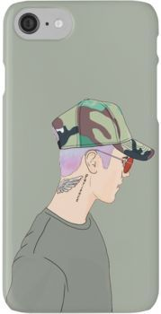 Justin Bieber Drawing iPhone 7 Cases