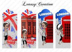 Marque-pages prêt à imprimer Mademoiselle Londres