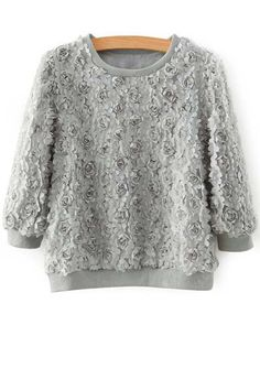 3/4 Sleeve Full Floral Fall Top