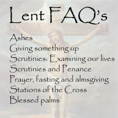 Lenten FAQ's | St. Peter Catholic Church | Covington, LA