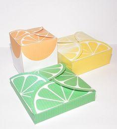 Blank gift box templates in 3 sizes- CU OK