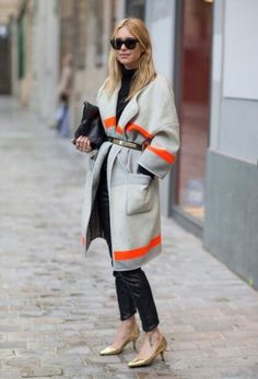 gtey coat + belt /Pernille Teisbaek