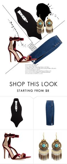 """Başlıksız #7"" by ddilda on Polyvore featuring moda, WithChic ve Gianvito Rossi"