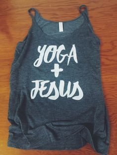 Yoga and Jesus Flowy Tank (Grey) I so love this!