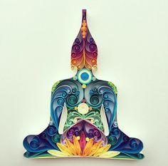 "Quilled Paper Art: ""Buddha"""
