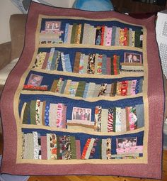 Bookshelf quilt - this one even has family photos on it!