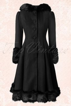 Bunny 30s Elvira Coat in Black 152 10 16726 20151016 328W