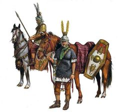 """""""Guard cavalrymen, Roman army, early 2nd century Ad (auxiliary cavalrymen, recruited from Celtic tribes)"""""""