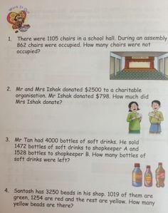 A grade 3 item on mental multiplication. Singapore math | Grade ...