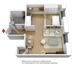 Planos on pinterest studio apartment floor plans floor - Pisos pequenos decoracion ...