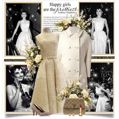 Happy Birthday Audrey Hepburn! by nora-nazeer on Polyvore featuring THE GATHERING GODDESS VINTAGE, Atelier Mercadal, Chanel, Rachel Zoe, Clinique and audreyhepburn