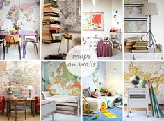 Interior // maps on walls » PS by Dila | PS by Dila - Your daily inspiration