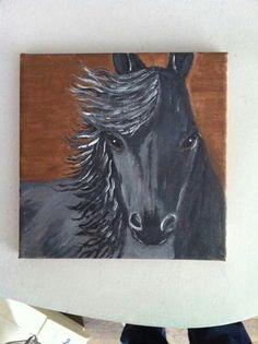 Paard schilderij gemaakt door margo den boer