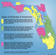 FloridaSinkholeMap Florida Sinkhole Map Florida Pinterest - Map of us sinkholes