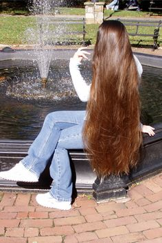 """I wonder if I'd ever get back to this length. I""""m about 5 inches shy of this...I think..."""