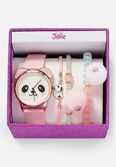 Shop Sells toys for dogs and games for children Products make-up shoes and jewelry watches Trendy Watches, Cute Watches, Girls Jewelry, Cute Jewelry, Panda Watch, Justice Accessories, Unicorn Fashion, Friend Jewelry, Cute School Supplies