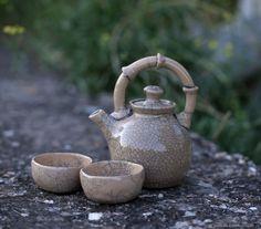 "Raku teapot. Vol. 500 ml.  $ 86,00. ""Ostrovok"" creative workshop. Raku pottery ceramics. Raku roasting.  Раку чайник на 500 мл."
