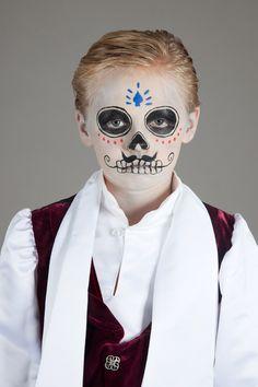 Kinder schminken mit Tag der Toten Make up inkl. Vorlagen zum downloaden
