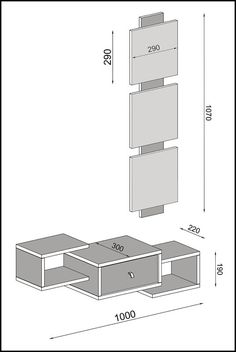 Modern Tv Wall Units, Hazelwood Home, Diy Desk, Ih, Console Table, House Plans, Home And Garden, Floor Plans, How To Plan