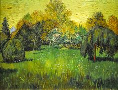 Vincent van Gogh - The Poet's Garden, 1888 at Art Institute of Chicago IL