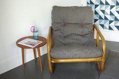 fauteuil en bambou et rotin via Wood