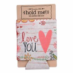 "Simple Inspirations neoprene drink sleeve will keep any bottle or can cold and hands warm. ""Love You"" sentiment for a practical and inspirational gift. Come Little Children, Orange Mugs, Rustic Signs, Linen Pillows, Inspirational Gifts, Halloween Kids, Hand Warmers, Cool Artwork, Stocking Stuffers"