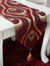 photo 1 of 6 Applique Jacquard Peacock Quality Table Centerpieces-No.1