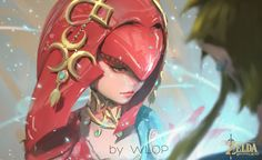 Mipha by wlop.deviantart.com on @DeviantArt - More at https://pinterest.com/supergirlsart legend of zelda breath of the wild #loz #botw #fanart