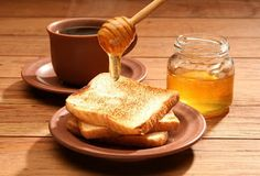 a Toast with honey