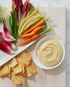 Hummus without Tahini | Martha Stewart Living - Greek yogurt imparts a silky texture to this hummus without tahini.