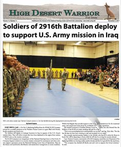 We have a great issue of news and features prepared for you this month, starting on our front page with coverage of the send-off ceremony for members of the 2916th B-229 Company, now deployed to strategic locations in Iraq. Don't miss any of the editorial's stories. ----  Business owners, call our office today to get your ad in the next edition! Your ad will appear in both the print and digital editions! Call 877 247 9288 (toll-free) today, or email  sbueltel@aerotechnews.com