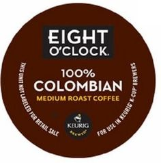 24 Count Box - Green Mountain Coffee Eight O'Clock Colombian K-Cups
