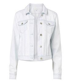 witchery white denim jacket