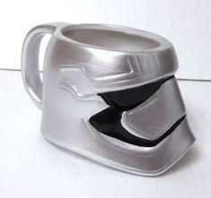 new STAR WARS CAPTAIN PHASMA MUG Sculpted Ceramic Silver Coffee Cup Stormtrooper #Zak