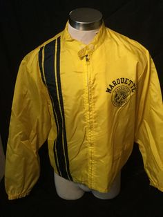 Vintage 1960's Marquette University Champion Running Man Tag Wind Jacket by 413productions on Etsy