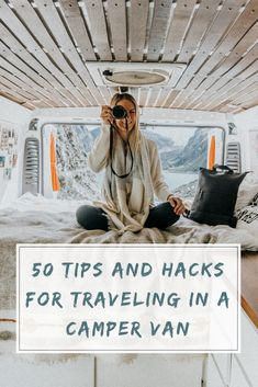 50 tips and hacks that we learned after living in our camper van for two years! life hacks cleanses life hacks ideas life hacks mini life hacks road trips life hacks tips Dodge Camper Van, Bus Camper, Camper Van Life, Bus Living, Living On The Road, Caravan Living, Happy Campers, Life Hacks, Life Guide