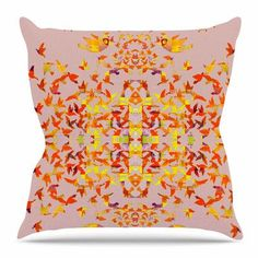 East Urban Home Flying Birds by Marianna Tankelevich Throw Pillow