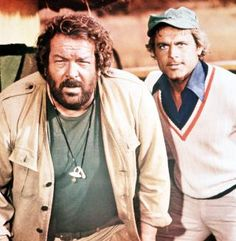 """Beat and beat: The successful duo Bud Spencer and Terence Hill, here in """"The Crocodile and his Chuck Norris, Bud Spencer Terence Hill, Retro Hits, Famous Legends, Famous Duos, Kino Film, Good Old Times, Western Movies, Old Movies"""