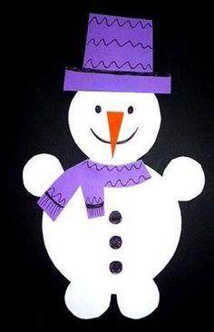 Schneemann Girlande fürs Fenster - Weihnachten-basteln - Meine Enkel und ich