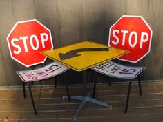 Road Sign Table & Chairs - $375 Cabootle
