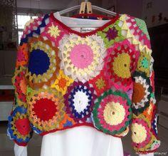 Verano brillante ganchillo suéter de motitvov (3) (657x612, 371KB)