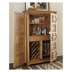 Ralph Lauren Home Driftwood Bar Cabinet