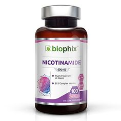biophix Vitamin B3 Flush Free Nicotinamide 500 mg 100 Caps *** To view further for this item, visit the image link.
